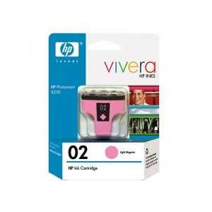 Original HP 02 Light Magenta ink cartridge, C8775WN