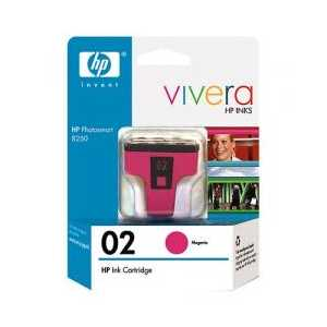 Original HP 02 Magenta ink cartridge, C8772WN