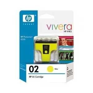Original HP 02 Yellow ink cartridge, C8773WN