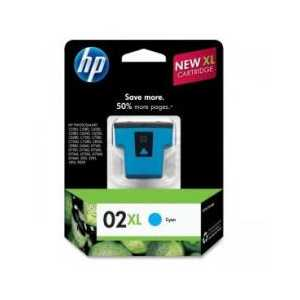Original HP 02XL Cyan ink cartridge, High Yield, C8730WN