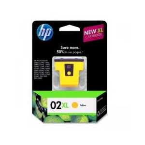 Original HP 02XL Yellow ink cartridge, High Yield, C8732WN