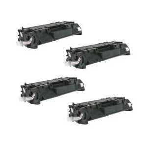 Compatible HP 05A toner cartridges, Jumbo Yield, CE505A, 4 pack