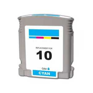 Remanufactured HP 10 Cyan ink cartridge, C4841A