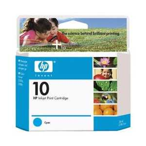 HP 10 Cyan genuine OEM ink cartridge - C4841A