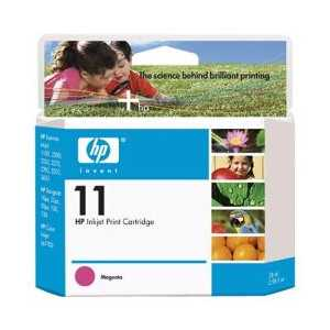 Original HP 11 Magenta ink cartridge, C4837A