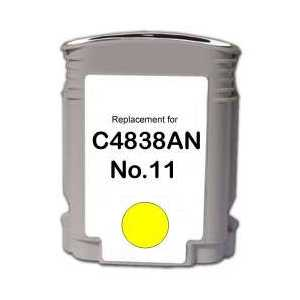 Remanufactured HP 11 Yellow ink cartridge, C4838A