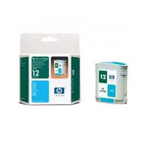 HP 12 Cyan genuine OEM ink cartridge - C4804A