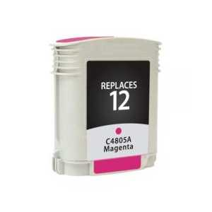 HP 12 Magenta remanufactured ink cartridge - C4805A