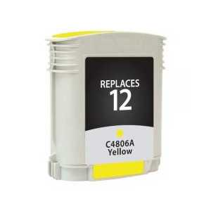 Remanufactured HP 12 Yellow ink cartridge, C4806A