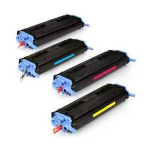 Compatible HP 124A toner cartridges, 4 pack