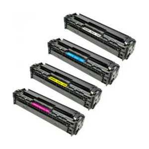 Remanufactured HP 125A toner cartridges, 4 pack