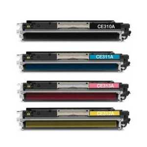 Remanufactured HP 126A toner cartridges, 4 pack