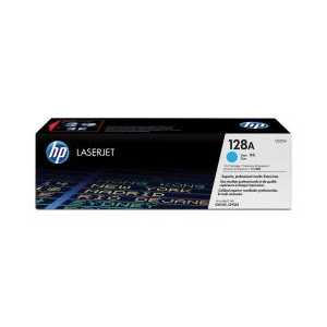 Original HP 128A Cyan toner cartridge, CE321A, 1300 pages