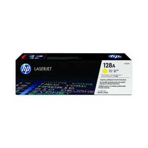 Original HP 128A Yellow toner cartridge, CE322A, 1300 pages