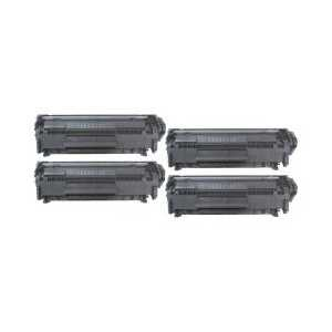 Remanufactured HP 12X toner cartridges, High Yield, 4 pack