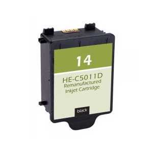 Remanufactured HP 14 Black ink cartridge, C5011D