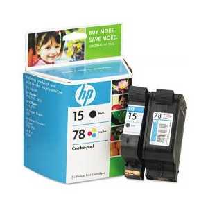 Multipack - HP 15 / HP 78 genuine OEM ink cartridges - C8789FN - 2 pack