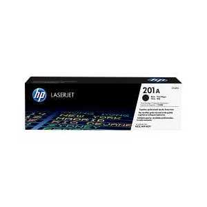 Original HP 201A Black toner cartridge, CF400A, 1500 pages