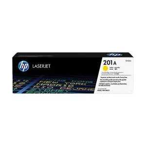 Original HP 201A Yellow toner cartridge, CF402A, 1400 pages