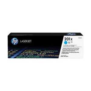 Original HP 201X Cyan toner cartridge, High Yield, CF401X, 2300 pages