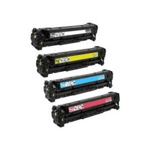 Remanufactured HP 201X toner cartridges, High Yield, 4 pack