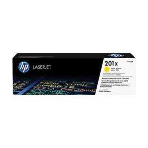 Original HP 201X Yellow toner cartridge, High Yield, CF402X, 2300 pages