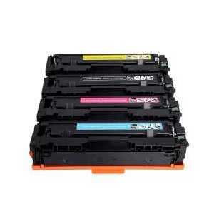 Compatible HP 206A toner cartridges, without chip, 4 pack
