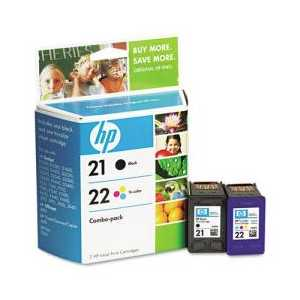 Multipack - HP 21 / HP 22 genuine OEM ink cartridges - C9509FN - 2 pack