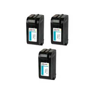 Remanufactured HP 23 ink cartridges, 3 pack