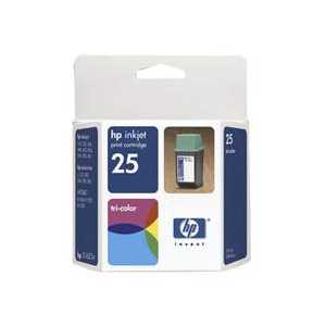 Original HP 25 ink cartridge, 51625A