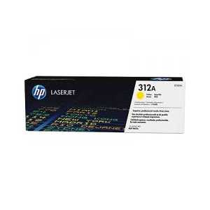 Original HP 312A Yellow toner cartridge, CF382A, 2700 pages