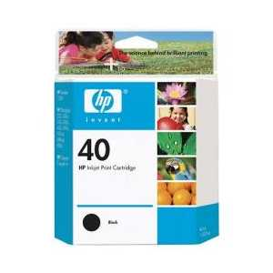 HP 40 Black genuine OEM ink cartridge - 51640A
