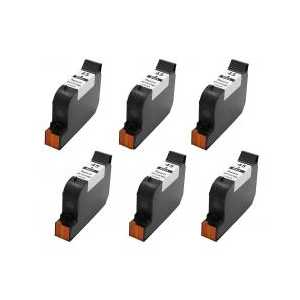 Remanufactured HP 45 ink cartridges, 6 pack