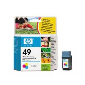 HP 49 Tricolor genuine OEM ink cartridge - 51649A