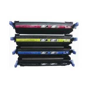 Compatible HP 501A, 502A toner cartridges, 4 pack
