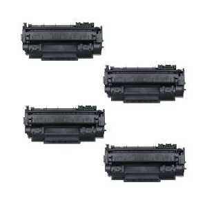 Compatible HP 53X toner cartridges, High Yield, Q7553X, 4 pack