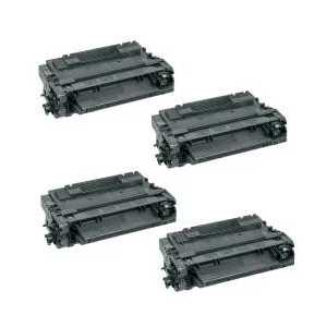 Compatible HP 55A toner cartridges, CE255A, 4 pack