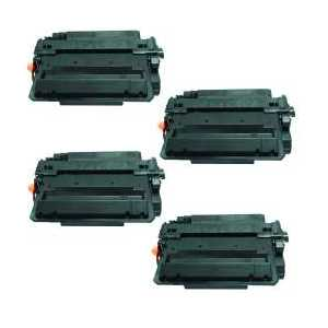Compatible HP 55X toner cartridges, Jumbo Yield, CE255X, 4 pack