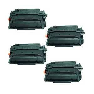 Compatible HP 55X toner cartridges, High Yield, CE255X, 4 pack