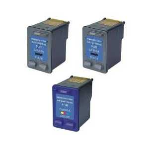 Remanufactured HP 56, 57 ink cartridges, 3 pack