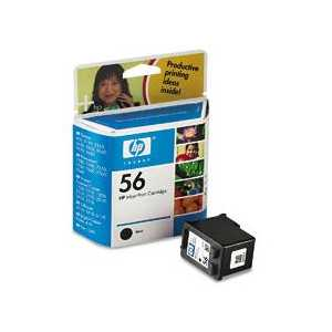 HP 56 Black genuine OEM ink cartridge - C6656AN