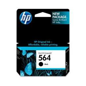 Original HP 564 Black ink cartridge, CB316WN
