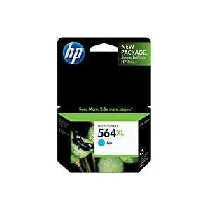 Original HP 564XL Cyan ink cartridge, High Yield, CB323WN
