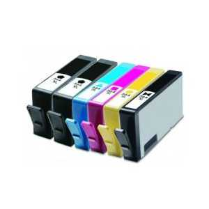 Remanufactured HP 564XL ink cartridges, 6 pack