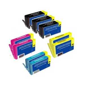 Multipack - HP 564XL remanufactured ink cartridges - 9 pack