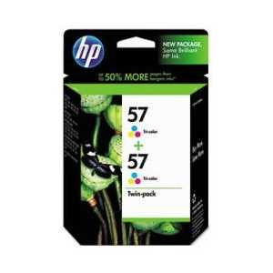Multipack - HP 57 genuine OEM ink cartridges - C9320FN - 2 pack