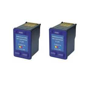 Remanufactured HP 57 ink cartridges, 2 pack