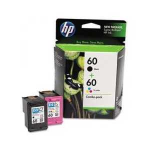 Multipack - HP 60 genuine OEM ink cartridges - CD947FN - 2 pack