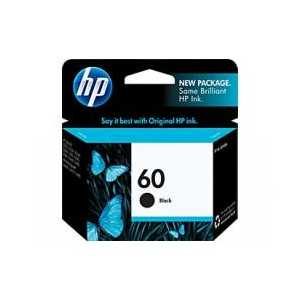 Original HP 60 Black ink cartridge, CC640WN