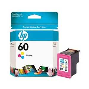 Original HP 60 Tricolor ink cartridge, CC643WN